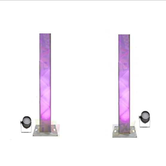 2x Truss Light Up Pillars Jp Light Amp Sound