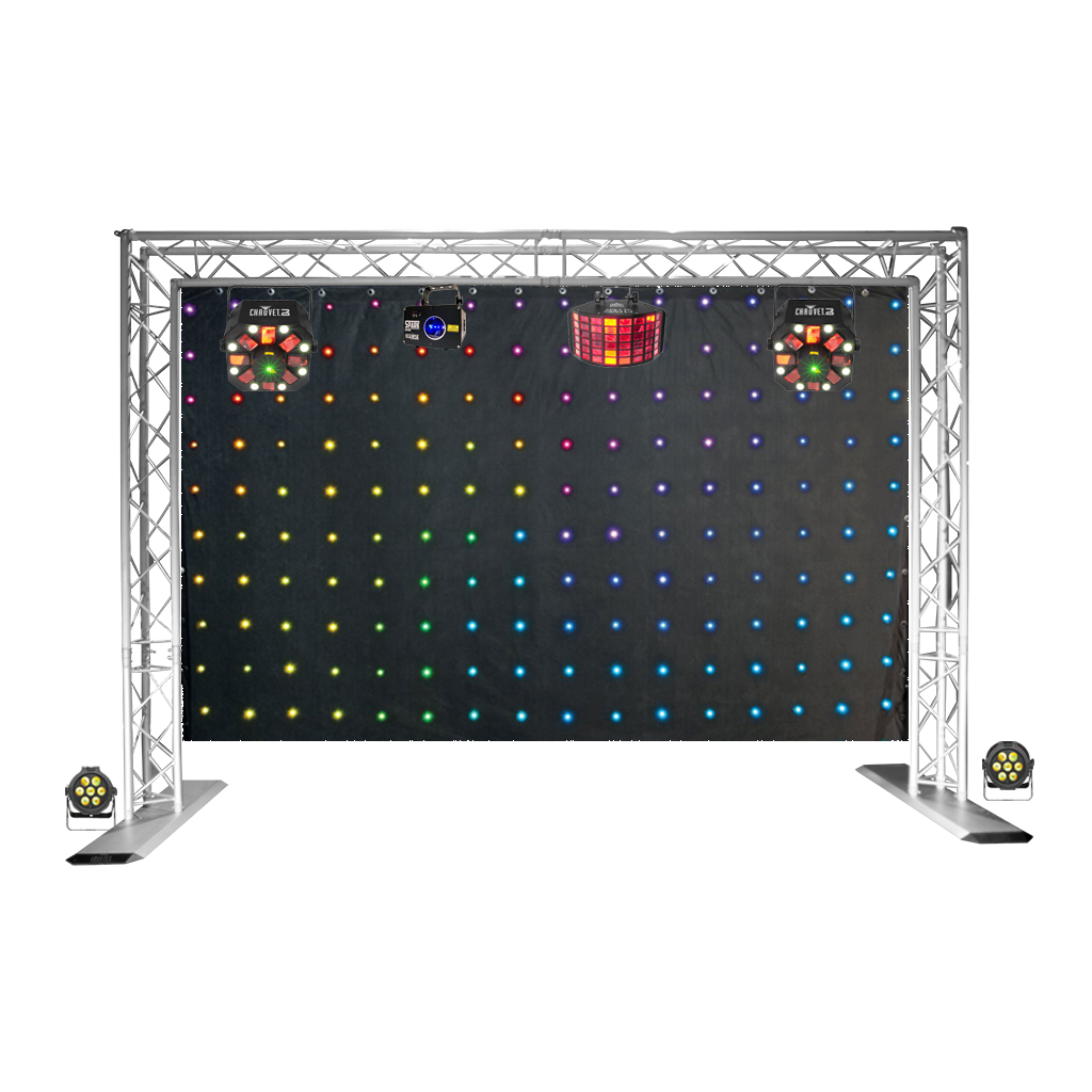 House Party Lighting Package With Led Curtain Jp Light