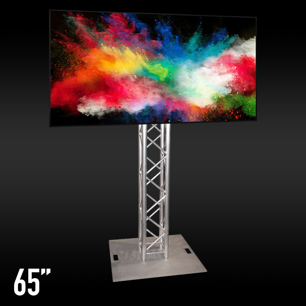65 Inch TV On Truss Hire Adelaide - JP Light & Sound