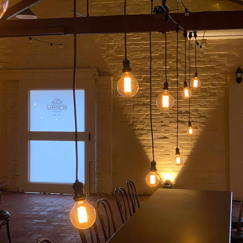 Drop Down Festoon Lighting - Adelaide